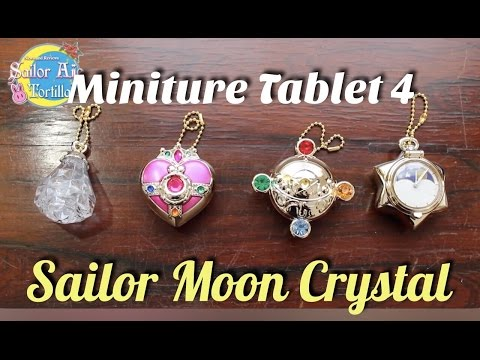 Sailor Moon Crystal Mini Tablet 4 Brooches, Cosmic Heart, & Metal Keychains