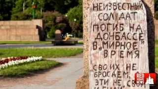 Action against putin's decree: Tombstone on the Field of Mars in Saint Petersburg