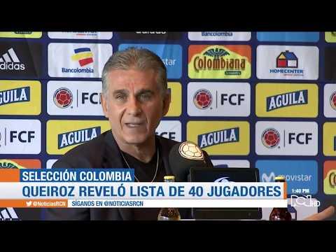 Seleccion Colombia a la Copa America: Queiroz entrego la lista preliminar de 40 jugadores