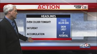 ACTION: 8 below zero Friday morning