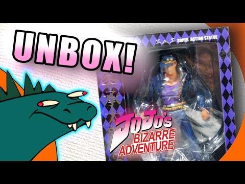 Jojo's Bizarre Adventure Jotaro Kujo Super Action Statue UNBOXING