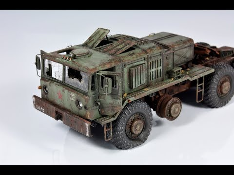 Creating a 1/72 model abandoned Soviet MAZ-537 with inspiration from Chernobyl [19:42]