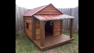 How I Built This BIG Dog House.