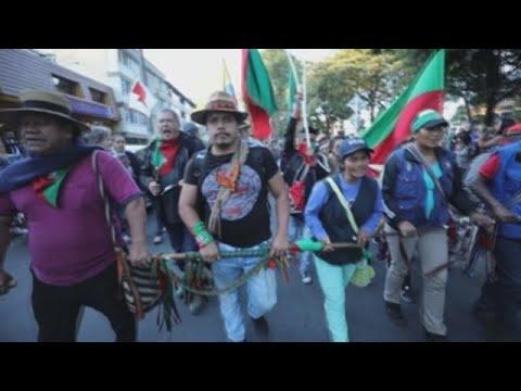 """Indigenas lideran participacion de Colombia en """"""""Cacerolazo Latinoamericano"""""""""""