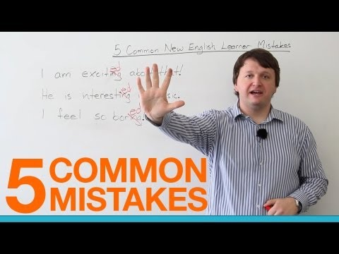 5 Common English Learner Mistakes