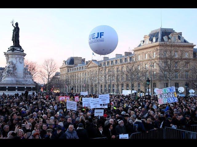 People march against anti-semetism in Paris | LIVE