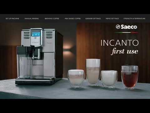 Saeco Incanto Tutorial | First Time Use Instructions