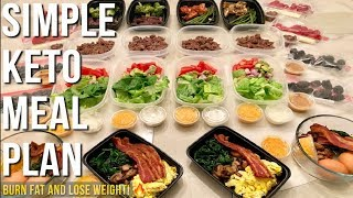 Simple Keto Meal Plan For The Week  - Burn Fat and Lose Weight
