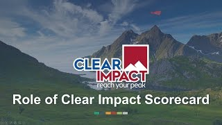 Clear Impact Scorecard video