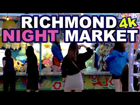 Guide To Richmond Night Market 2018 (4K) | Guide To Vancouver BC (видео)
