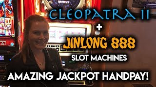 OMG! AMAZING JACKPOT HANDPAY on FREEPLAY! Jin Long Slot Machine!