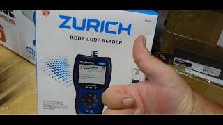 Zurich OBD2 Code Reader ZR8   Harbor Freight Tools   63809