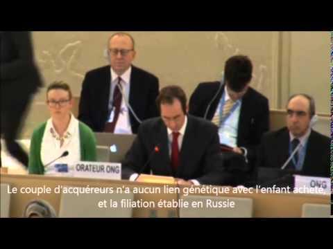 ONU : L'ECLJ dénonce la vente d'enfants par GPA
