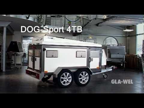 GLA-WEL DOG-Sport 4TB Hundeanhaenger mit Staudach