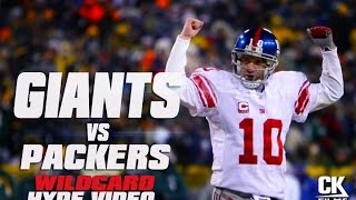 New York Giants vs Green Bay Packers | Wildcard Playoff Hype Video