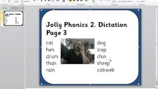 Jolly Phonics 2 Dictation Page 3