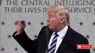 President Donald Trump Visits CIA Headquarters Delivers Remarks 1/21/17 ✔