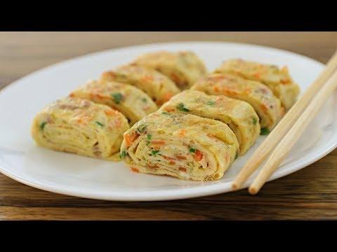 Rolled Omelette Recipe | How to Make Korean Egg Roll