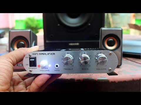 20W 12V Super Bass Mini Hi Fi Stereo Amplifier Unboxing