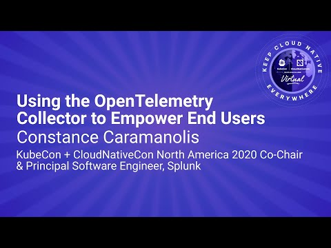 Image thumbnail for talk Keynote: Using the OpenTelemetry Collector to Empower End Users