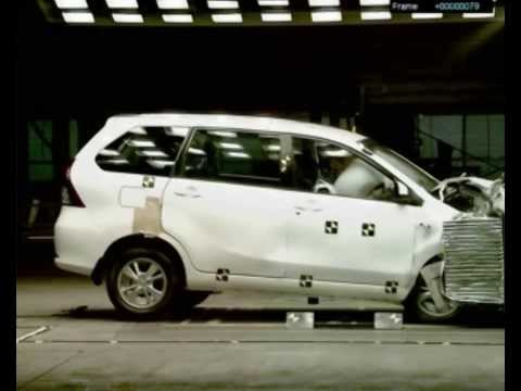 Crash test Daihatsu Xenia Airbag Mengembang