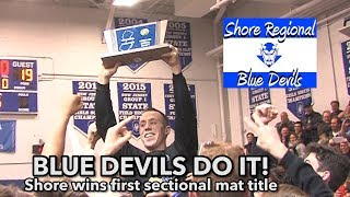 Shore Regional 45 Point Pleasant Beach 19 | Blue Devils win 1st ever sectional wrestling title