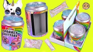 Slime Surprise ! Poopsie Sparkly Critters Big Blind Bag SODA CANS - Toy Video