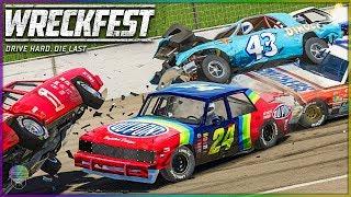 THE KING GETS CRUNCHED! [TALLADEGA, BRISTOL, AND FIGURE 8!] | Wreckfest | NASCAR Legends Mod