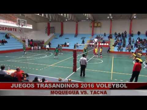 Juegos trasandinos 2016 Puno, voleybol Moquegua vs Tacna