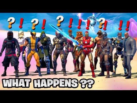 What Happens if ALL BOSSES Meet the Mythic Infinity Blade in Fortnite (Ironman,Predator,Mandalorian)