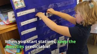 Starting Stations In Kindergarten