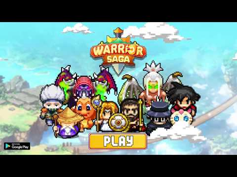 Vidéo Warrior Saga: NO.1 Free Pixel MMORPG in 2018