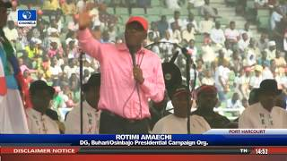 Buhari Takes Re-Election Campaign To Rivers Pt.2 |Live Event|