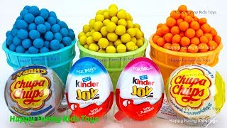 Play Doh Dippin Dots Ice Cream Cups and Kinder Surprise Eggs Zuru 5 Surprise Toys Fun for Kids