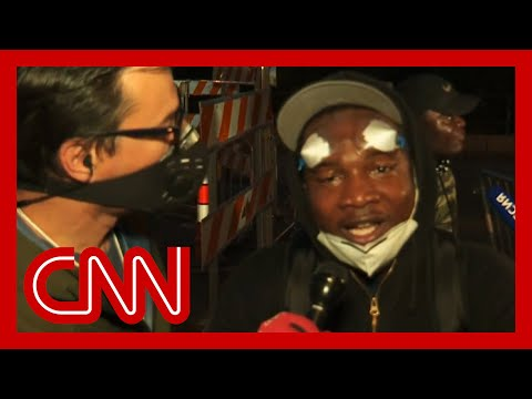 Protester calls out looters: There's something wrong with you