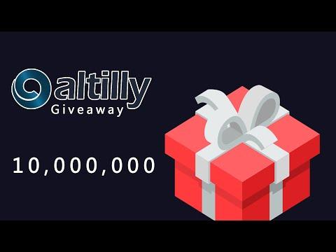 Mais de 10,000,000 Milhões de Tokens no Giveaway na Exchange Altilly. JÁ PAGOU !!!!