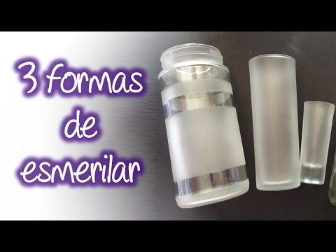 3 formas fáciles de esmerilado en cristal , Easy frosted glass