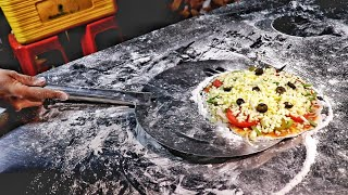 Wood Fired Cheese Blast Pizza | Street Food Pizza | Road Side Food Truck | Indian Street Food