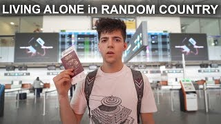 I Lived ALONE in Random Country for a WEEK! (very bad idea)