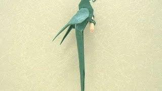 Красивый попугай из бумаги. Beautiful parrot paper