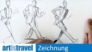 Menschen zeichnen in Bewegung | Ganz einfach zeichnen lernen