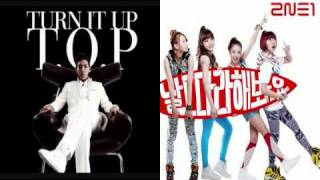 TOP + 2NE1 REMIX ( turn it up + try to copy me )
