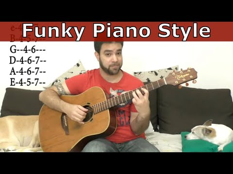 Lesson: Ultra-Funky Piano-Style Fingerstyle Solo Improvisation - Guitar Tutorial