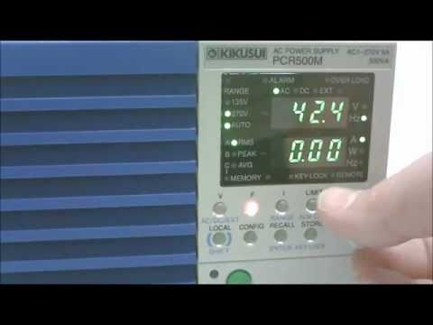 Video of Kikusui AC Power Supply / Frequency Converter Kikusui PCR500M