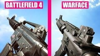 Battlefield 4 Gun Sounds vs Warface