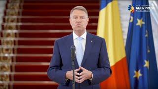 LIVE Declarație de presă susținută de Președintele României, domnul Klaus Iohannis