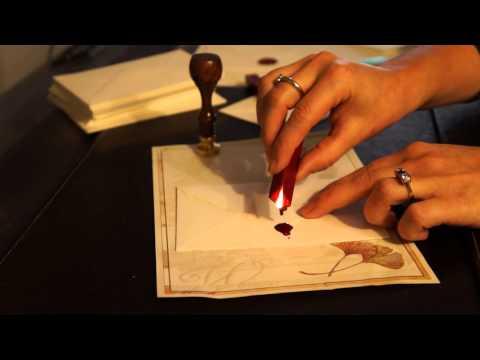 gravurART Siegelanleitung, Verarbeitung von Siegelwachs mit Docht