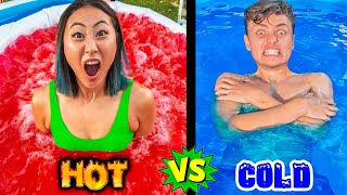 HOT VS. COLD POOL CHALLENGE!!