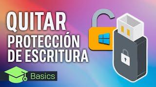 QUITAR la PROTECCIÓN CONTRA ESCRITURA de un USB, PEN DRIVE | XTK Basics