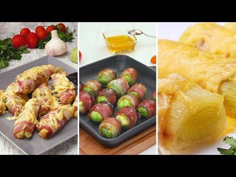 Овощи в беконе - Рецепты от Со Вкусом видео